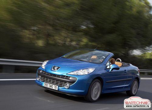peugeot 207cc купе-кабриолет синий