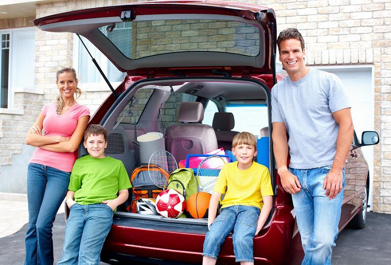 машина для всей семьи фото видны улиц города