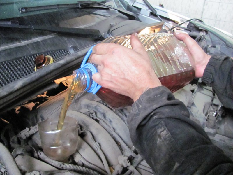 Промывка двигателя не потребуется в следующих случаях: