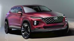 Концерн Hyundai выложил в сеть скетчи Santa Fe